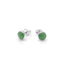 Pounamu Dot Studs-jewellery-The Vault