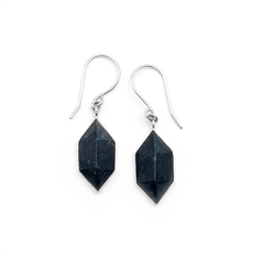 Black Pounamu Prism Earrings-jewellery-The Vault