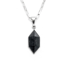 Black Pounamu Prism Pendant-jewellery-The Vault