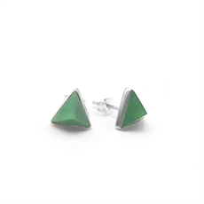Tri Facet Studs Pounamu-jewellery-The Vault