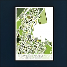 Wellington Map Box Frame Black-new-in-The Vault