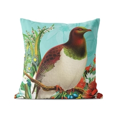 Cushion Cover Botanical Kereru -artists-and-brands-The Vault
