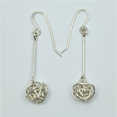 Poro Earrings Silver-jewellery-The Vault