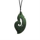 Xtra Large Pounamu Pendant Fish Hook