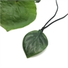 Pounamu Pendant Kiwi Fruit Leaf-new-in-The Vault
