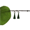 Pounamu Stud Earrings Triangle Drop-new-in-The Vault