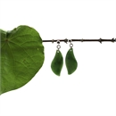 Pounamu Stud Earrings Leaf Drop