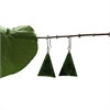 Pounamu Earrings Triangle Dark-new-in-The Vault