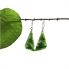 Pounamu Earrings Triangle-new-in-The Vault