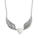 Winged Heart Necklace MOP
