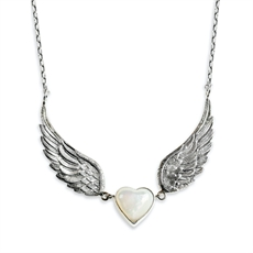 Winged Heart Necklace MOP-jewellery-The Vault