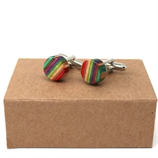 Skateboard Deck Cufflinks Rainbow-jewellery-The Vault