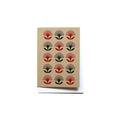 Pop Pohutukawa Red&Black Small Card-cards-The Vault
