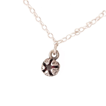 Red Manuka Pod Necklace Garnet