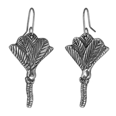 Nikau Earrings Silver-jewellery-The Vault