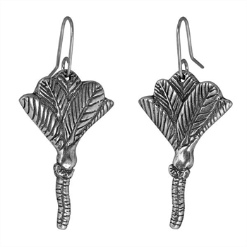 Nikau Earrings Silver