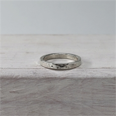 Finger Loop Hammered Stg Silver-jewellery-The Vault
