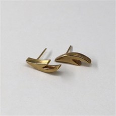 Small Antler Earrings Gold Plate -jewellery-The Vault