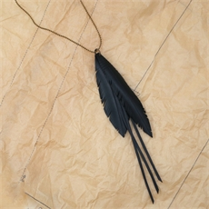Up-Bicycled Multi Feather Necklace-jewellery-The Vault
