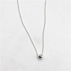 Tiny Orb Necklace Silver-necklaces-The Vault
