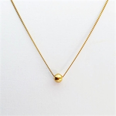 Tiny Orb Necklace Gold Plate-necklaces-The Vault