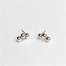 Triple Orb Stud Earrings Silver-artists-and-brands-The Vault