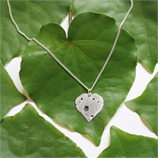 Large Kawakawa Pendant Silver-jewellery-The Vault