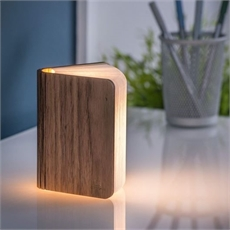 Mini Smart LED Booklight Leather Walnut-new-in-The Vault