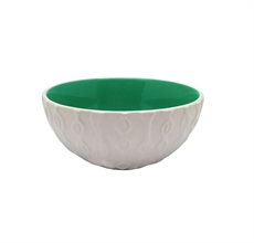 Kowhai Natural Dark Green 12mm Bowl-new-in-The Vault