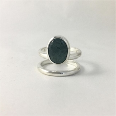 Pounamu Cage Ring Silver-jewellery-The Vault