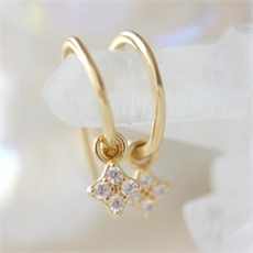 Clover Hoops Gold Plate-jewellery-The Vault