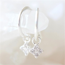Clover Hoops Silver-jewellery-The Vault