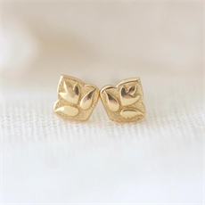 Lotus Studs Gold Plate-jewellery-The Vault