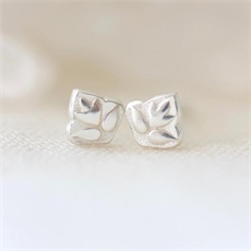 Lotus Studs Silver-jewellery-The Vault