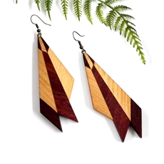 Wooden Earrings Medium-jewellery-The Vault