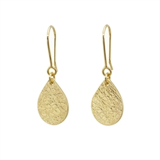 Teardrop Earrings Gold Plate-jewellery-The Vault