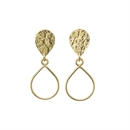 Droplet Stud Earrings Gold Plate