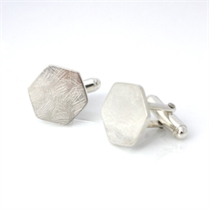 Scratching the Surface Cufflinks Silver-jewellery-The Vault