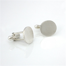 Nine to Five Cufflinks Silver-jewellery-The Vault