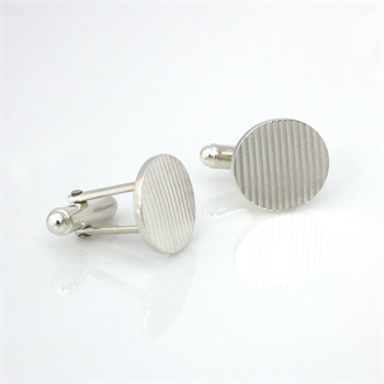Nine to Five Cufflinks Silver