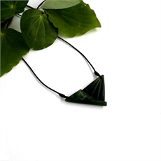 Pounamu Pendant Patterned Triangle-jewellery-The Vault