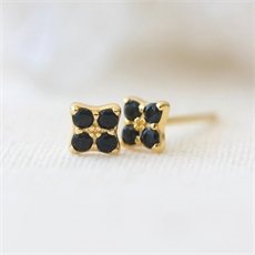 Clover Studs Gold Plate-jewellery-The Vault
