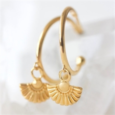 Daisy Hoops Gold Plate-jewellery-The Vault