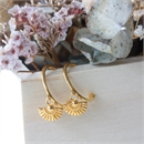 Daisy Hoops Gold Plate