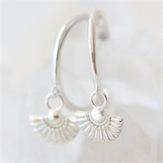 Daisy Hoops Silver-jewellery-The Vault