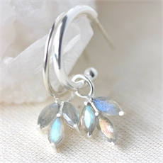 Cornflower Hoops Silver-jewellery-The Vault