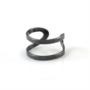 Wrap Ring Oxidised Silver