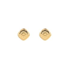 Marigold Studs Gold Plate-jewellery-The Vault