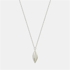 Simple Leaf Chain Necklace Silver-jewellery-The Vault