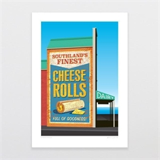Cheese Rolls A4 Print-artists-and-brands-The Vault
